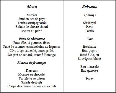 Dialogue au Restaurant  2º ESO