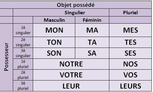 Les Adjectifs et Pronoms Possessifs 4º ESO